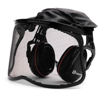 Hallásvédő hálós arcvédővel